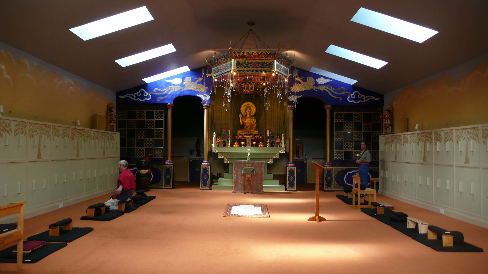 Ceremony Hall of Throssel Hole Buddhist Abbey, England
