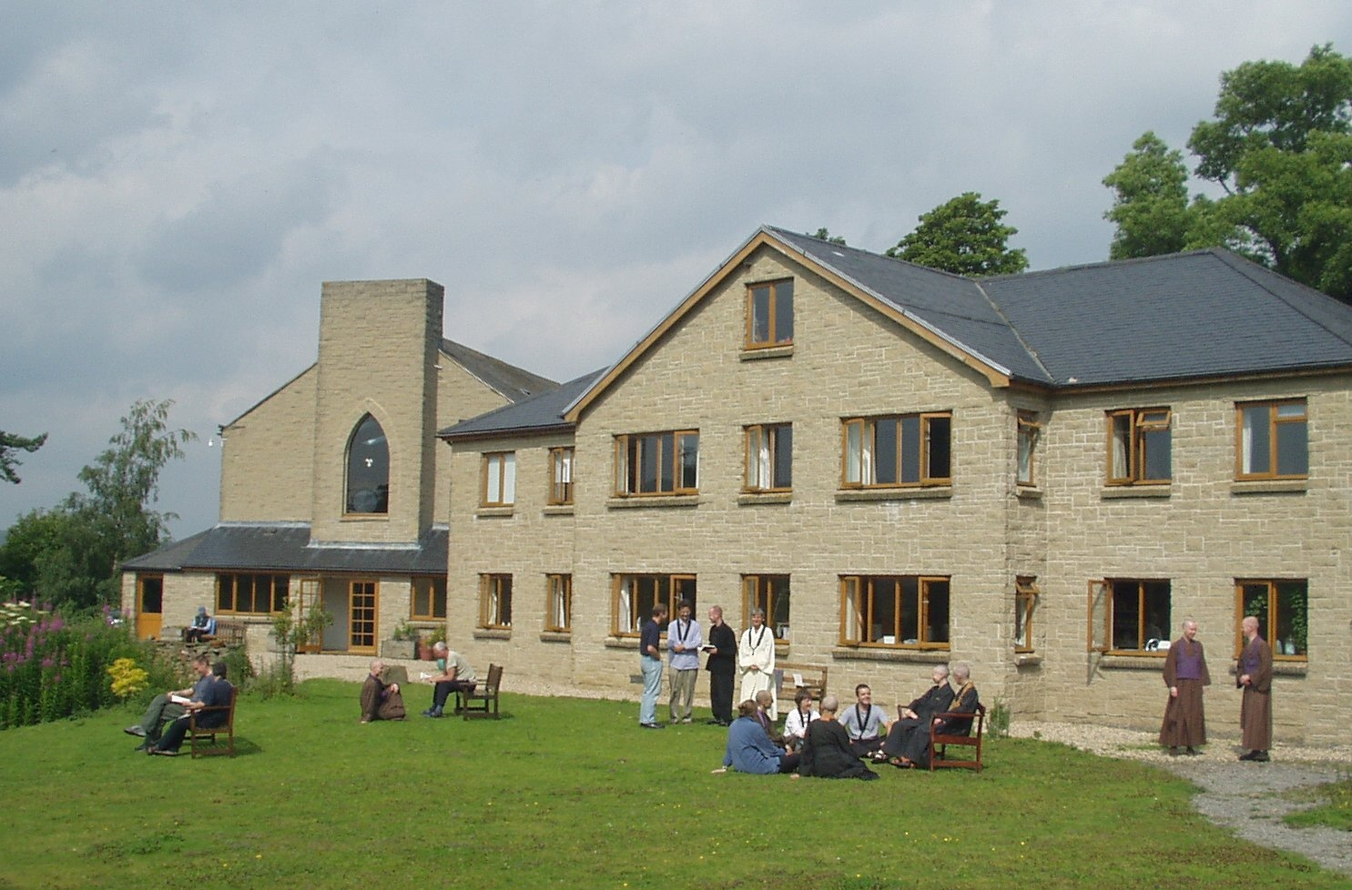The exterior of Throssel Hole Buddhist Abbey, England